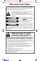 Panasonic NN-ST671S Operating instructions manual - Page 3