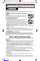 Panasonic NN-ST671S Operating instructions manual - Page 6