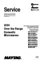 Maytag UMV1152BAB/W/Q/S Service - Page 1