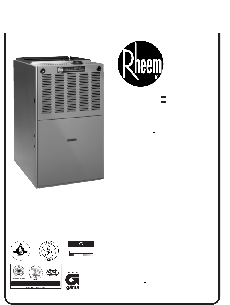 Rheem Criterion Ii Plus 2 Lxe Rgpl Download